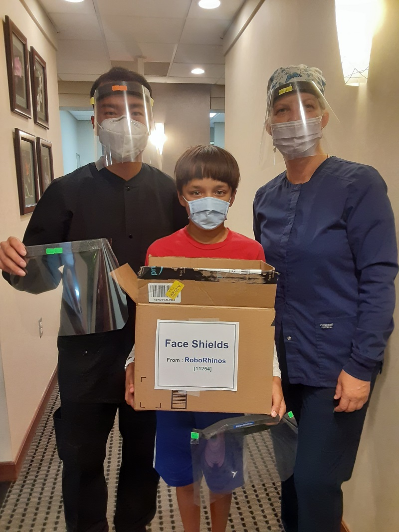 Goldstein Dental Group Face Shield Donation